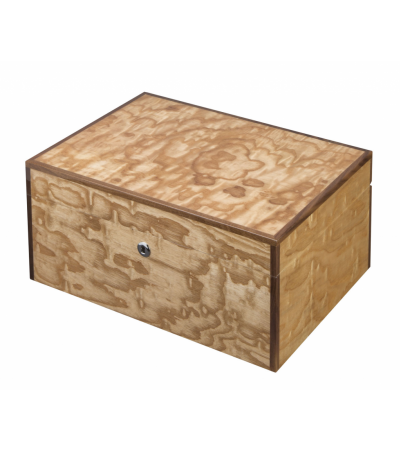 Visol liberty birdseye maple exotic wood humidor - holds 100 cigars