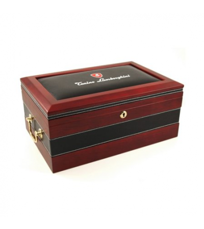 Lamborghini Rare Lemanns Leather Top Cigar Humidor