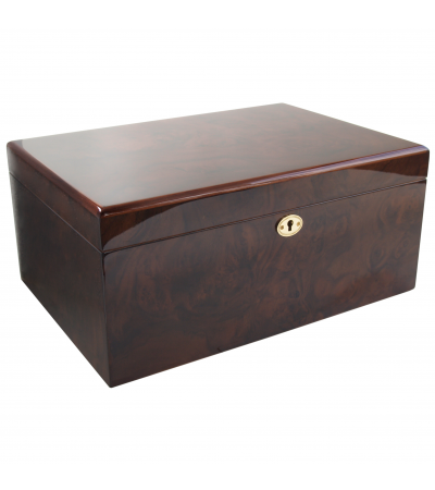 Savoy by Ashton Large Humidor in Walnut, 100 Cigar Capacity